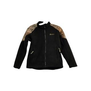 Rocky Outdoor Jacket Boys Full Zip Camo Polyester Black Camo