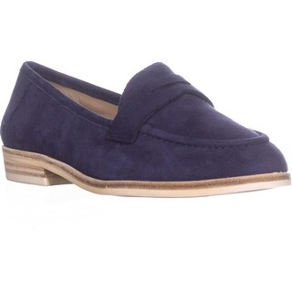 Nine West Antonecia Penny Loafers, Navy - 6 us