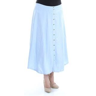 GRACE ELEMENTS Womens New 1476 Light Blue Maxi A-Line Casual Skirt 14 B+B