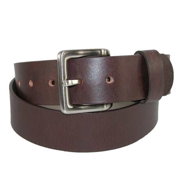 Toneka Men's Leather Bridle Belt with Removable Buckle