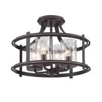 Designers Fountain 87511 Palencia 4-Light Semi-Flush Ceiling Fixture - artisan pardo wash - n/a