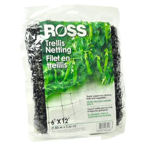 Ross 16301 Garden Trellis Netting, Square Aperture, 6' x 12'