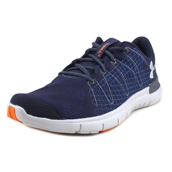 Under Armour Thrill 3 Men Round Toe Canvas Blue Running Shoe
