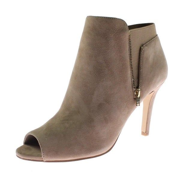 Marc Fisher Womens Smash Ankle Boots Suede Peep-Toe