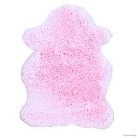 "Allstar Pink Rug, High Quality Faux Sheep / Polar Bear Shape, No-Shedding, Ultra- Extended Pile Height Shag (4' 11"" x 7' 0"")"