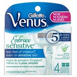 Gillette Venus Sensitive 5-Blade Cartridges 4 ea