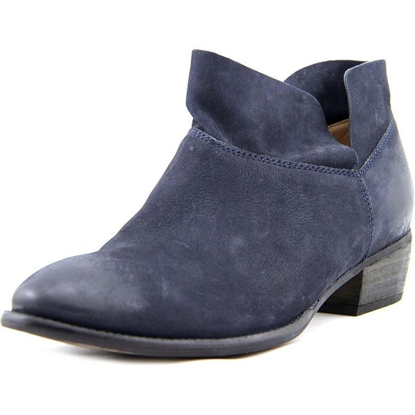 Seychelles Snare Women Round Toe Leather Black Bootie
