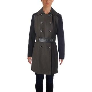 DKNY Womens Wool Mixed Media Coat - 6