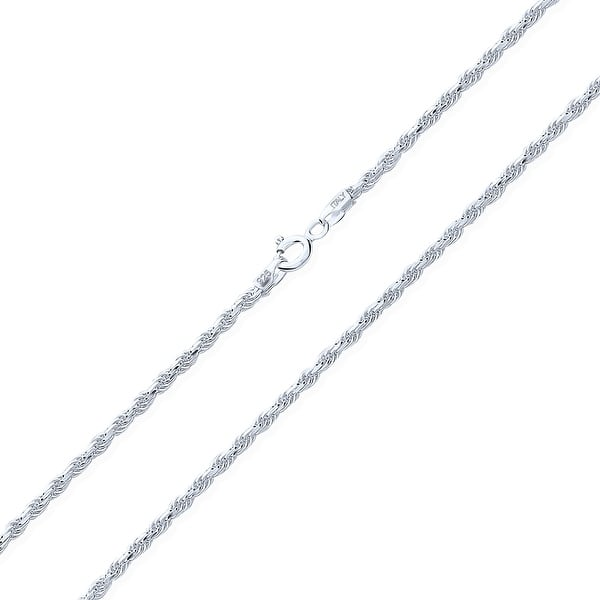 24 inch 1.8mm Round Box Chain Italian Sterling Silver Chain Necklace with Sterling Lobster Claw Clasp