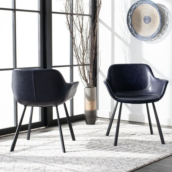 "Safavieh Arlo Mid Century Dining Chair (Set of 2) - 25"" x 23.8"" x 30"". Opens flyout."