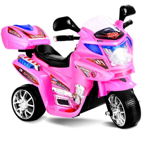Costway Kids Ride On Motorcycle 3 Wheel 6V Battery Powered Electric