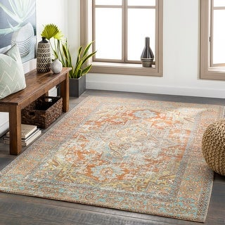 Link to Dellie Indoor/ Outdoor Traditional Medallion Area Rug Similar Items in Transitional Rugs