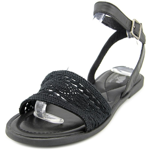 Rocket Dog Arena Women Open-Toe Canvas Black Slingback Sandal