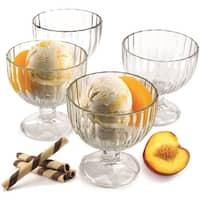Palais Glassware Creme Glace, Clear Glass, Ice Cream Dessert Bowls  Set of 4  9 Oz