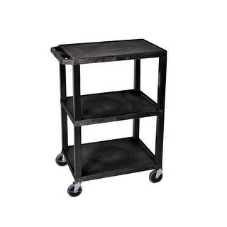 Offex OF-WT34S 3 Shelves Multipurpose Tuffy Utility Storage Cart - Black