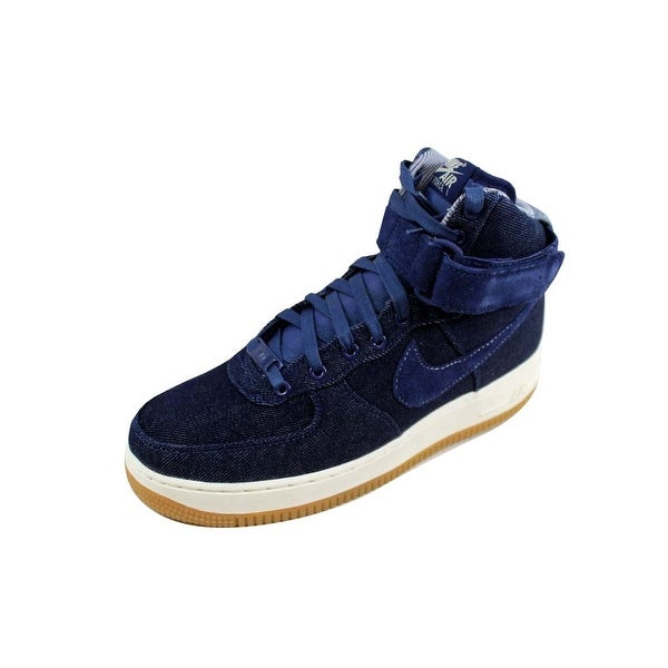 Nike Women's Air Force 1 Hi SE Binary Blue/Muslin-Sail Denim 860544-400