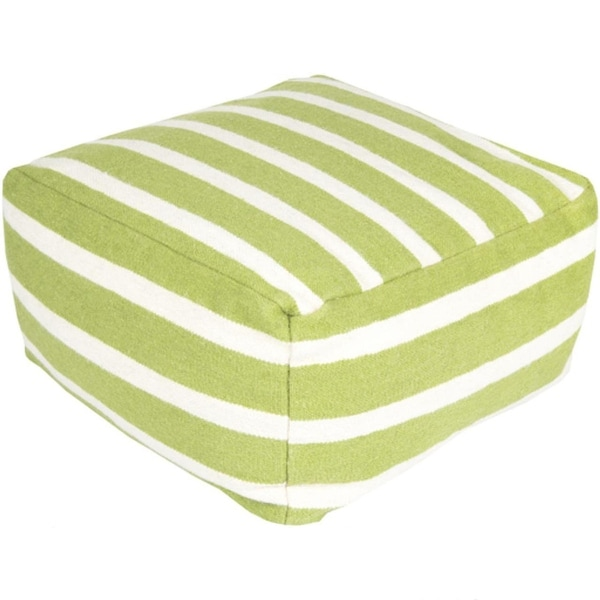 Pleasing 24 Lime Green And Cream Simply Striped Wool Rectangular Pouf Ottoman N A Lamtechconsult Wood Chair Design Ideas Lamtechconsultcom