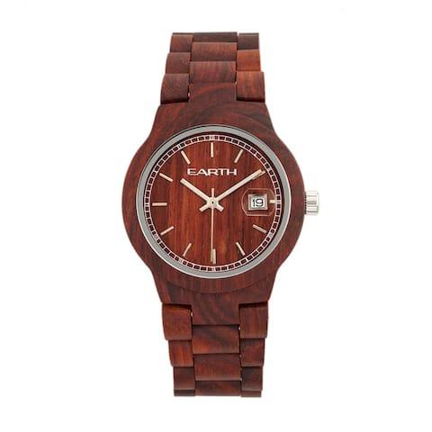 Earth Wood Biscayne Unisex Quartz Watch, Wood Band, Luminous Hands