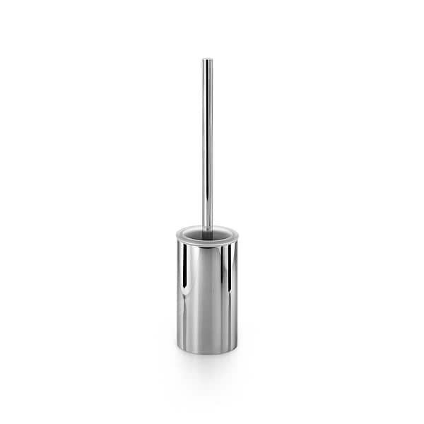 WS Bath Collections Skoati 50207 Metal Free Standing Toilet Brush Holder - Chrome