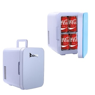 ZOKOP Electric Mini Portable Fridge Cooler & Warmer AC/DC Portable Thermoelectric System(0.21 Cuft / 8 Can)