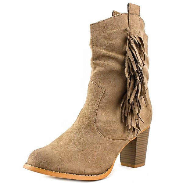 Wanted Memphis Women Round Toe Canvas Mid Calf Boot