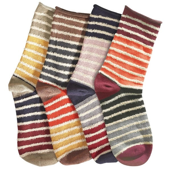 Women's Mix & Match Cotton Blend Socks - Striped