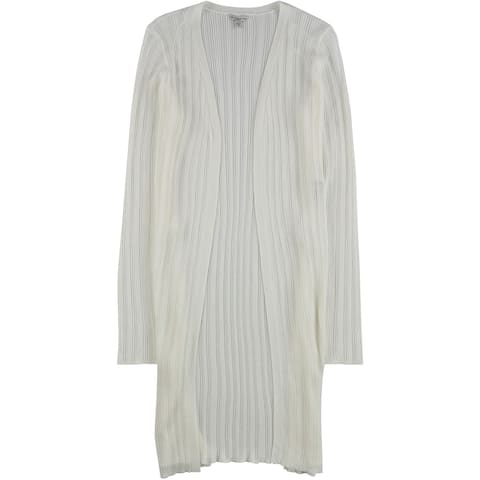 GUESS Womens Christabel Tie Front Cardigan Sweater, White, Medium