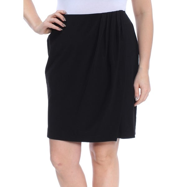 DKNY Womens Black Above The Knee Skirt Size: 12