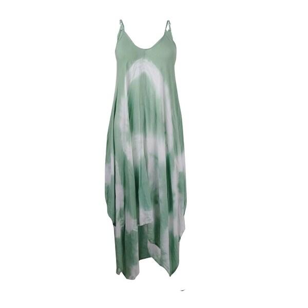 Raviya Womens Maxi Tie-Dye Dress Swim Cover-up Green S
