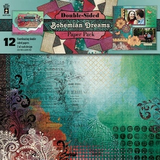 "Hot Off The Press Double-Sided Paper Pack 12""X12"" 12/Pkg-Bohemian Dreams"