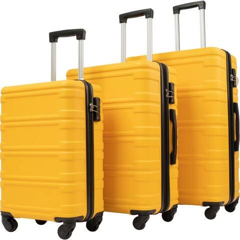 TSA Lock Hardshell Luggage Sets, 3 Pcs Spinner Suitcase