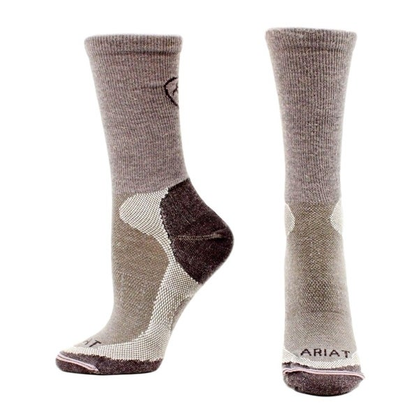 Ariat Socks Mens Merino Liner Ribbed Calf Slide Proof - L