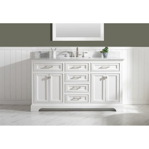 "Milano 60"" Single Vanity in White"