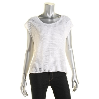 Eileen Fisher Womens Casual Top Linen Fly-Away