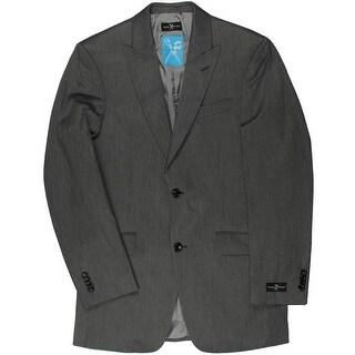 Marc Ecko Mens Spiker Trim Fit Notch Lapel Two-Button Suit Jacket