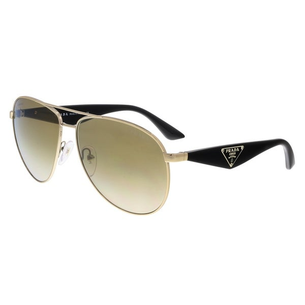 Prada PR 53QS ZVN2G2 Gold Aviator Sunglasses - 60-13-140