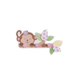 "Babies""R""Us Monkey Wall Decor Wooden Baby Girl"