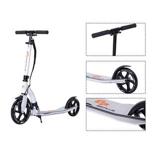 Goplus Foldable Aluminum Kids Kick Scooter Height Adjustable w Shoulder Strap Kickstand