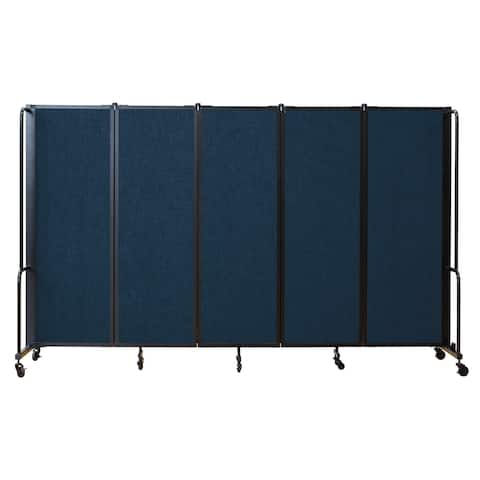 NPS Portable Room Divider, 6' Height, 5 Panels