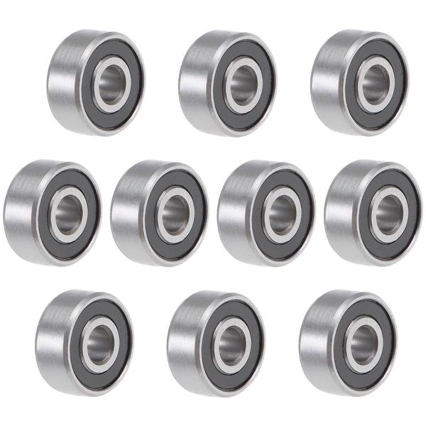 "R2-2RS Deep Groove Ball Bearing 1/8""x3/8""x5/32"" Sealed GCr15 Bearings 10pcs"