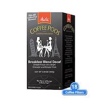 Melitta 75413 Breakfast Blend Decaf 18 Counts (Single Pack) Breakfast Blend Decaf Coffee Pods