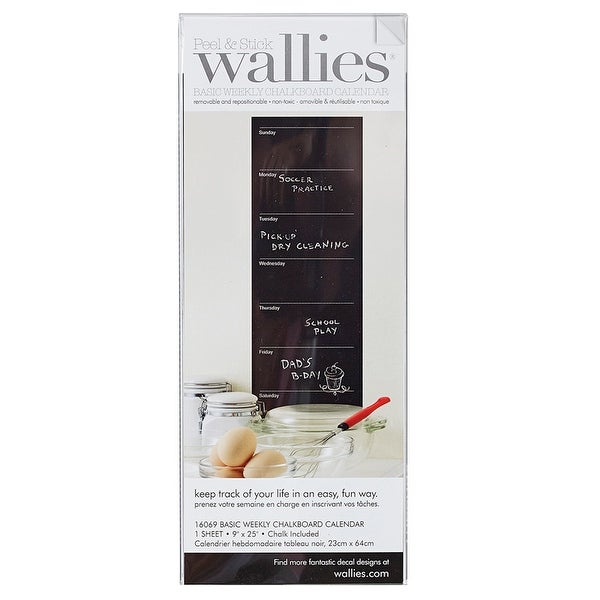 """Basic Weekly Chalk Calendar, 9"""" x 25"""" - One Size. Opens flyout."""