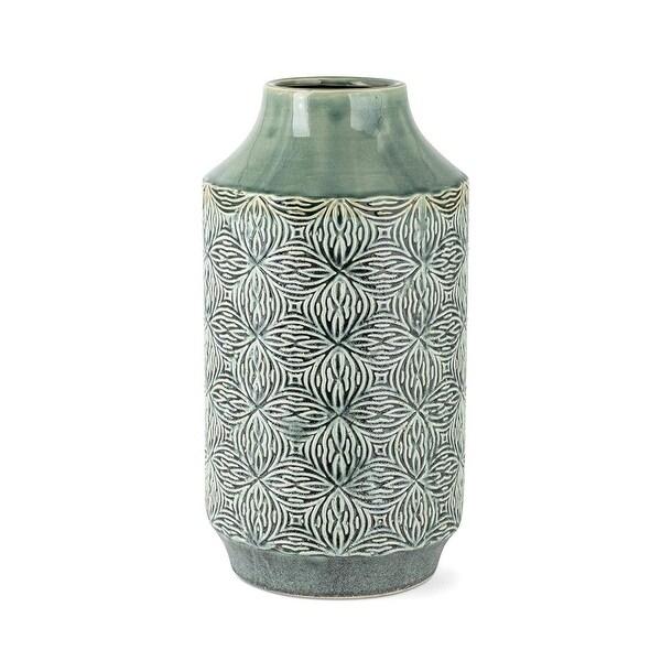 """15"""" Edwards Arabesque Surface Pattern Large Vase - N/A"""