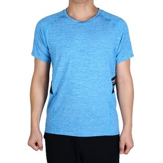 Men Short Sleeve Clothes Activewear Tee Outdoor Exercise Sports T-shirt Blue S