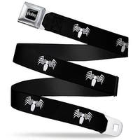 Marvel Universe Venom Full Color Black White Venom Spider Logo Black White Seatbelt Belt