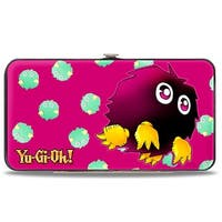 Kuriboh Fuchsia Sage Yellow Hinged Wallet - One Size Fits most