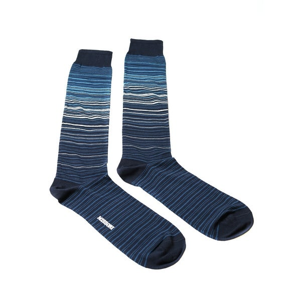 Missoni GM00CMU5232 0005 Teal/Navy Knee Length Socks