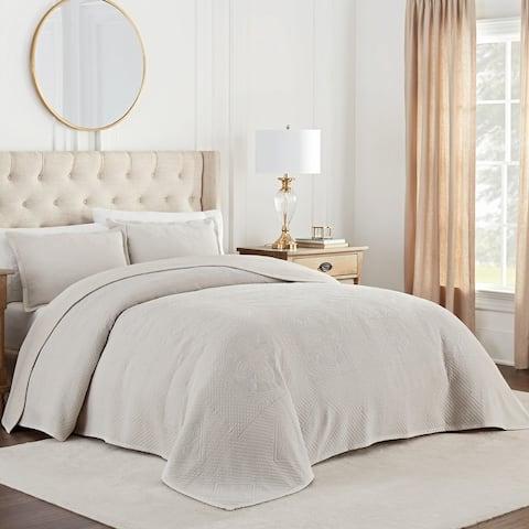 Waverly Matelasse Cotton Oversized Bedspread Set