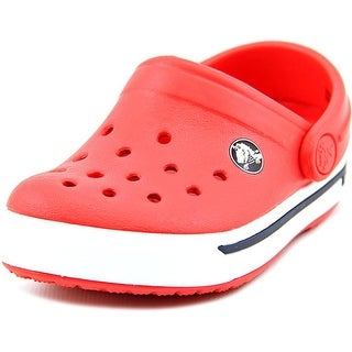 Crocs Crocband II.5 Infant Round Toe Synthetic Red Clogs