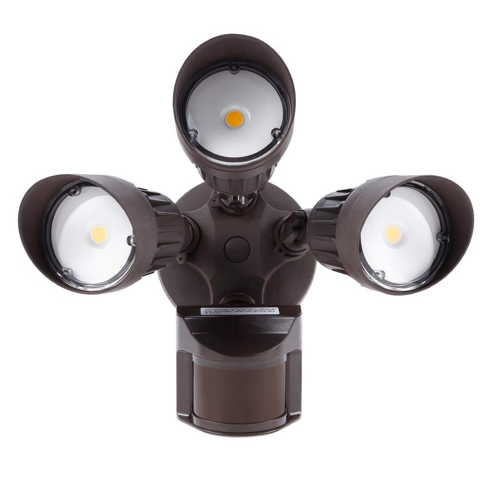 Led Outdoor Flood Light Motion Sensor Led Security Light Dusk To Dawn 20W 2 Head